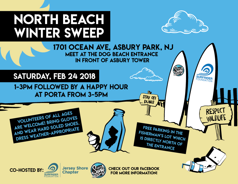 North Beach Winter Sweep & Happy Hour!