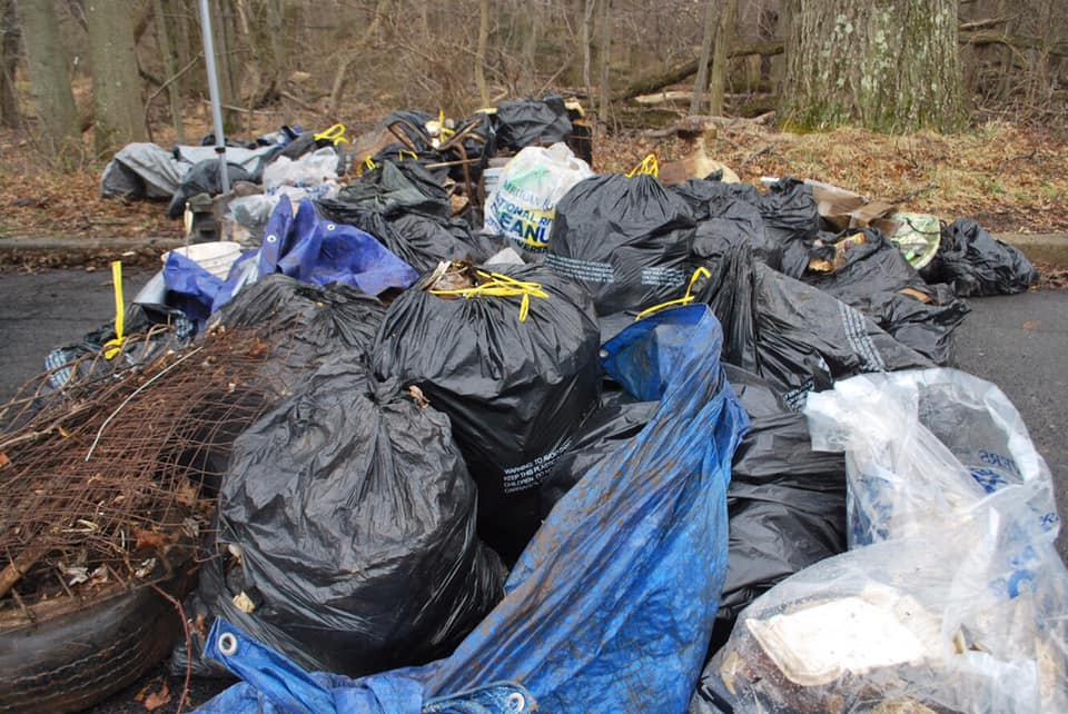 Green Brook Cleanup Nets Nearly 4,000 Pounds of Debris